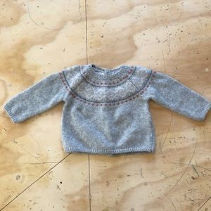 Zara Grey Ski style Sweater